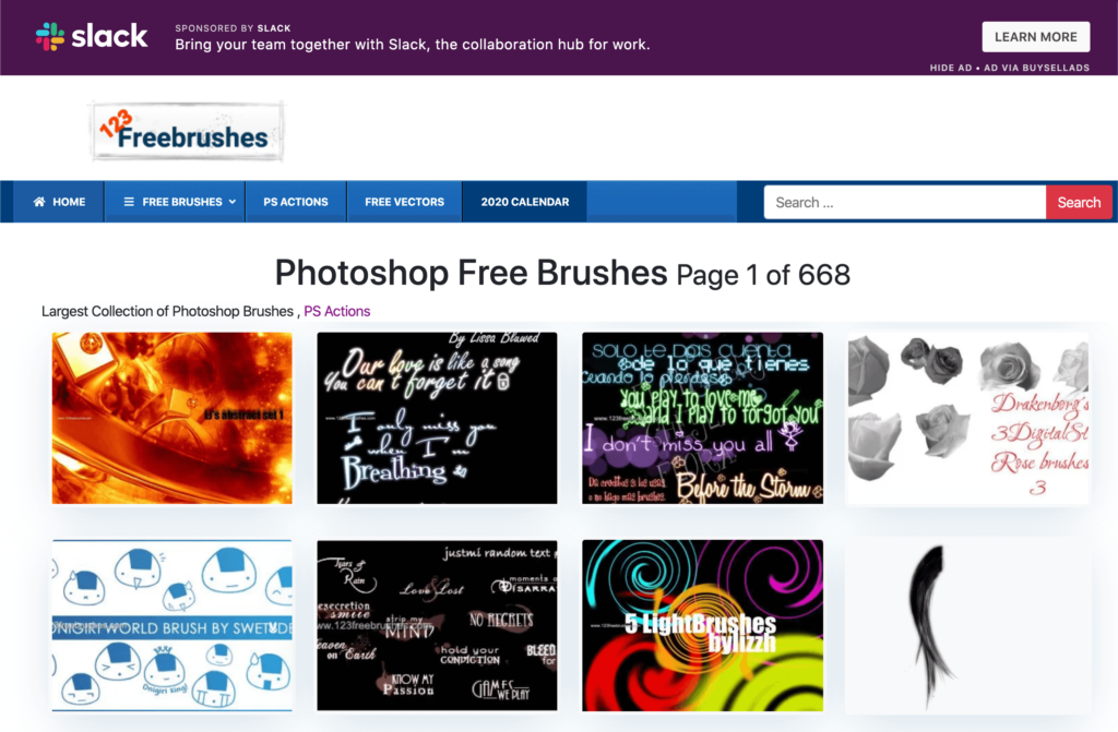 123 FreeBrushes
