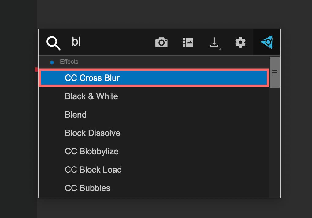 FX consoleのエフェクト検索+ツールパネル