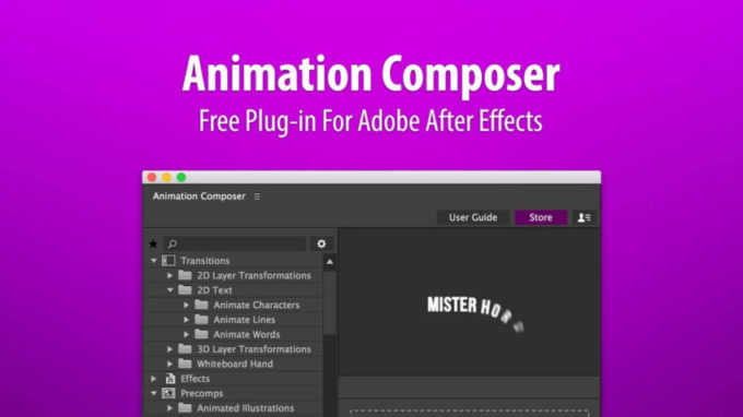 After Effects Animation Composer  プラグイン 無料