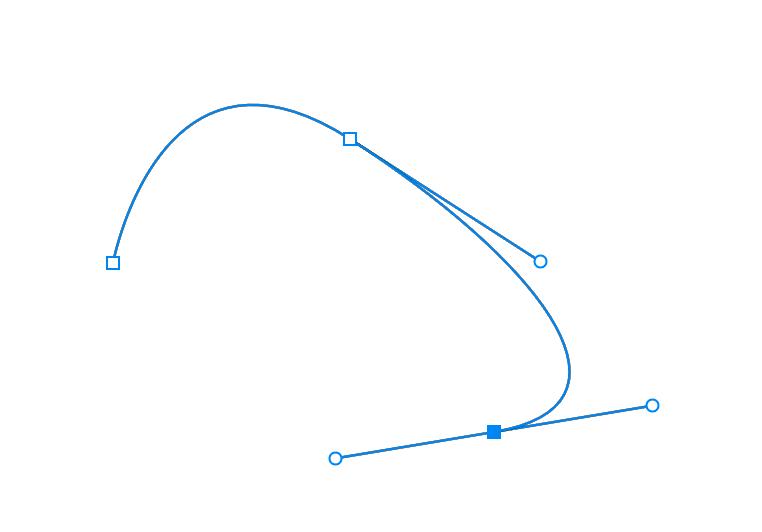 Photoshopのペンツールで描いた曲線