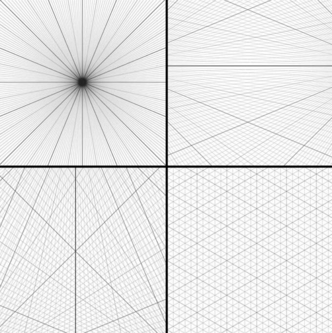 フォトショップ ブラシ 無料  グリッド 模様 Photoshop Perspective Grid Brushes