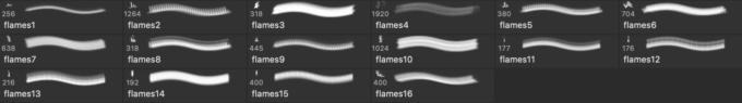 フォトショップ ブラシ 無料  炎 ファイア 火 Flames - Fire Photoshop and GIMP Brushes
