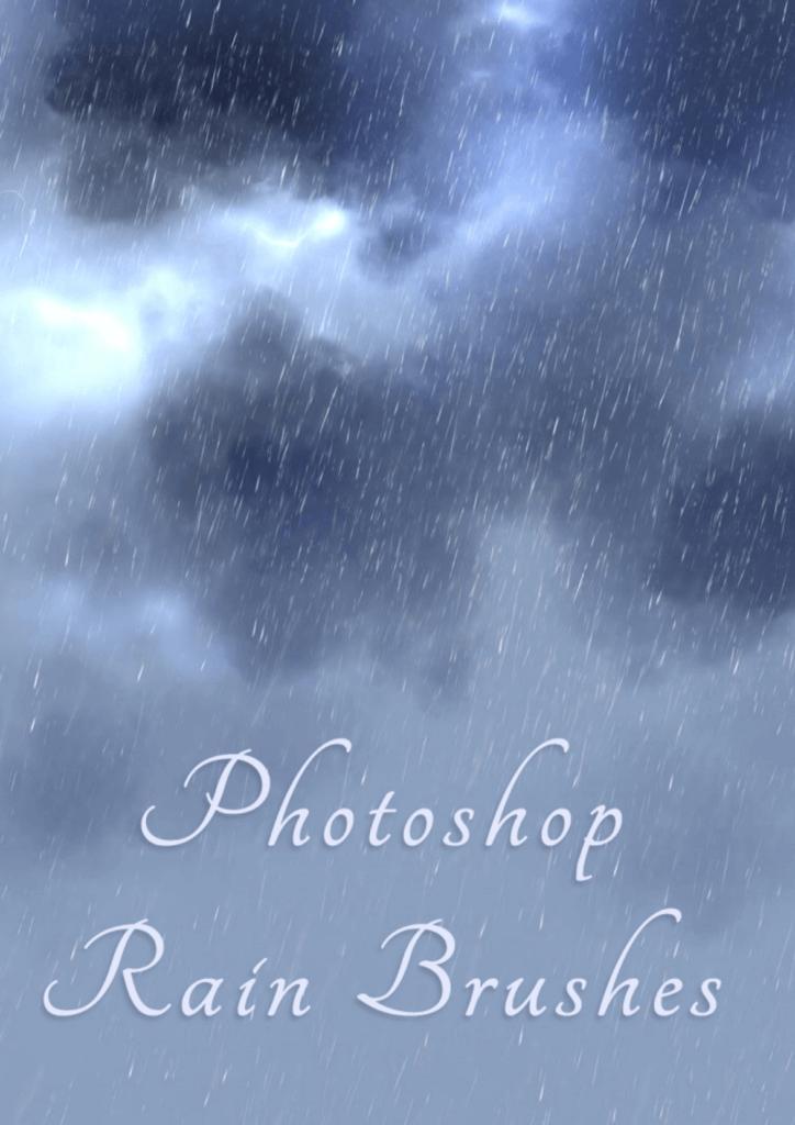 Photoshopのレインブラシセットの紹介画像