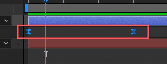 Adobe After Effectsキーフレーム補間のイージーイーズ適応後の変化
