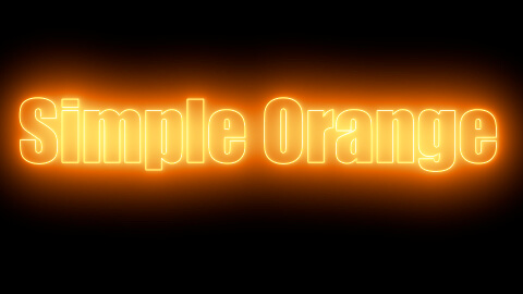 Saber Preset Simple Orange