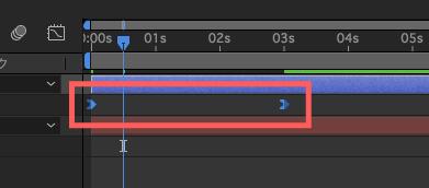 Adobe After Effectsキーフレーム補間のイージーイーズイン適応後の変化