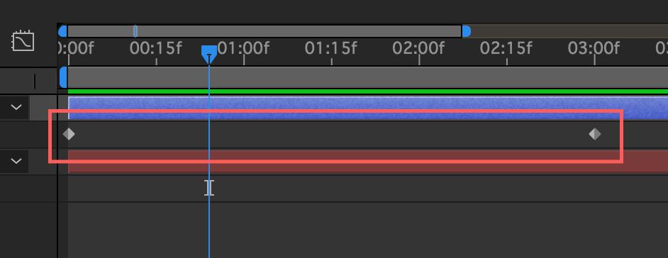Adobe After Effects キーフレーム