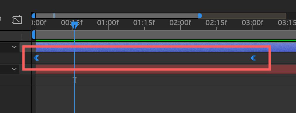 Adobe After Effects キーフレーム補間後の変化