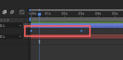 Adobe After Effectsキーフレーム補間法リニア適応後の変化
