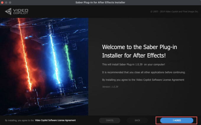 Adobe After Effects Saber install ダウンロード インストール 方法