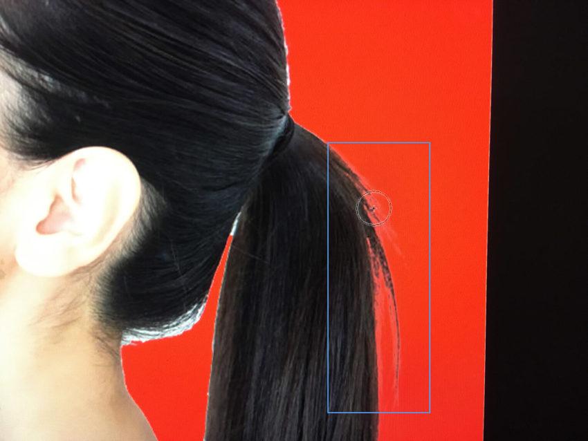 Adobe CC Photoshop フォトショップ 切り抜き 髪の毛 簡単 切り抜き 切り抜き素材 画像 境界線調整ブラシツールで調整