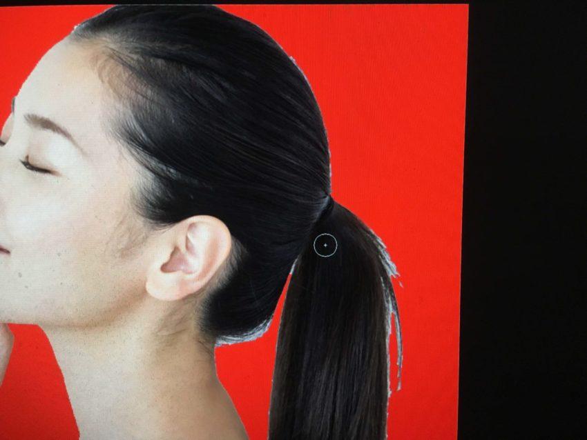 Adobe CC Photoshop フォトショップ 切り抜き 髪の毛 簡単 切り抜き 切り抜き素材 画像 境界線調整ブラシツールのカーソル