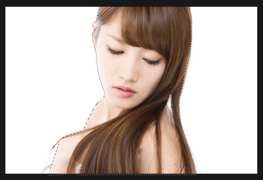 Adobe CC Photoshop フォトショップ 切り抜き 髪の毛 簡単 切り抜き 素材 読み込み パスを選択範囲へ切り替える