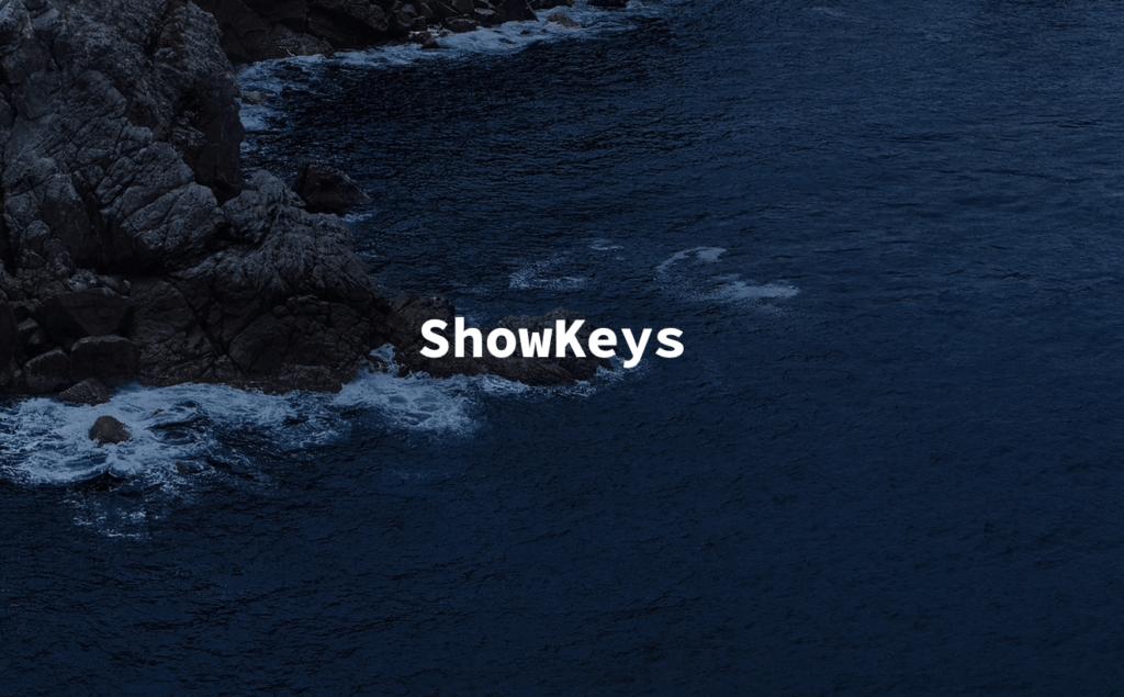 ShowKeys文字の表示位置の変更
