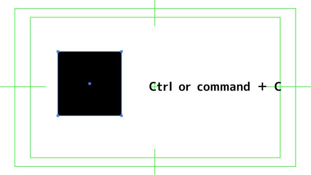 Ctrl or  command + Cでコピー