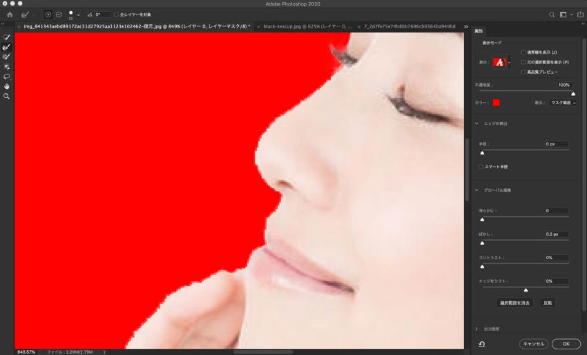 Adobe CC Photoshop フォトショップ 切り抜き 髪の毛 簡単 切り抜き 切り抜き素材 画像肌がガタガタしている