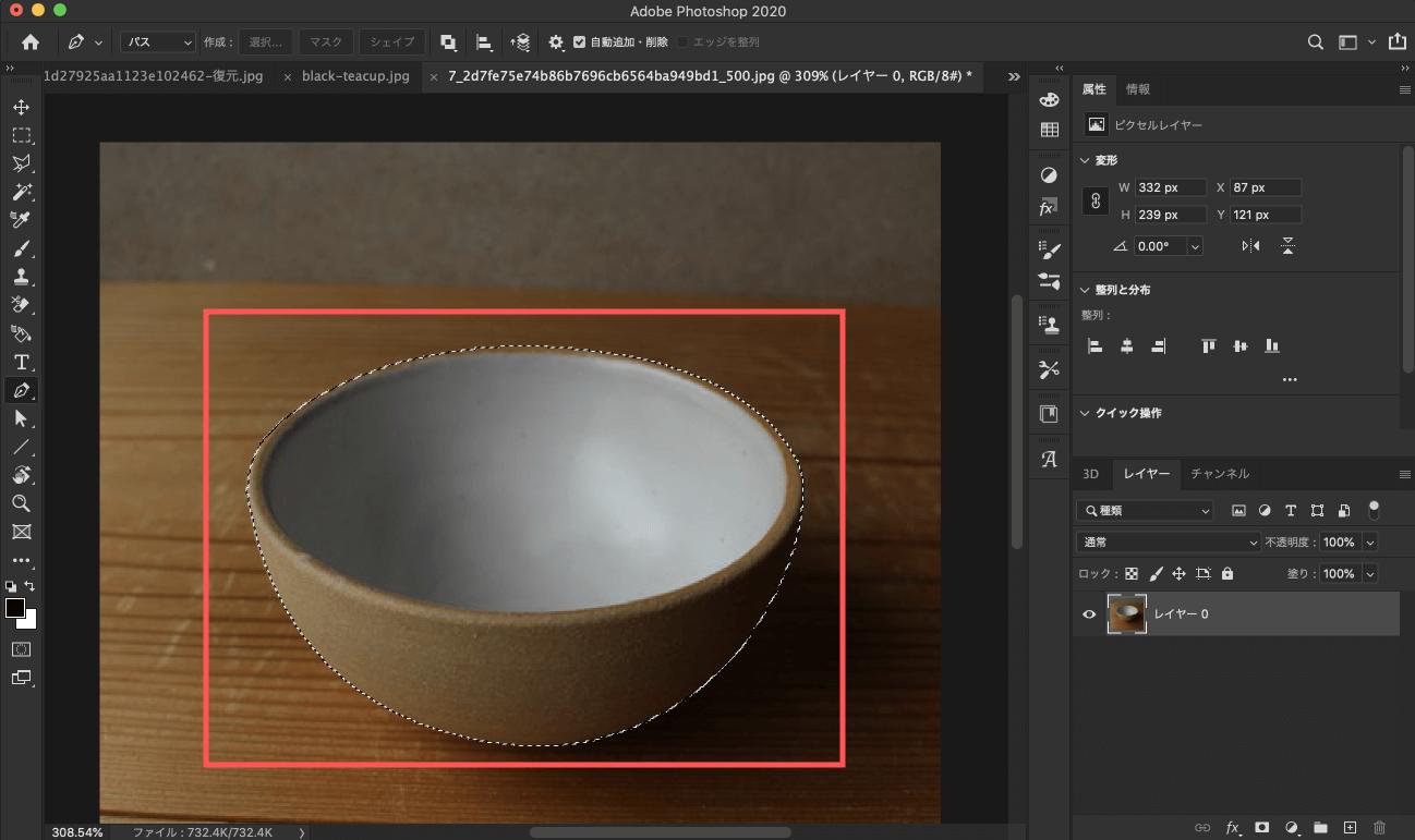 Adobe CC Photoshop フォトショップ 切り抜き 髪の毛 簡単 切り抜き 自動選択ツール パスを選択範囲へ変更