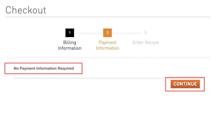 支払い情報は不要ですと表示