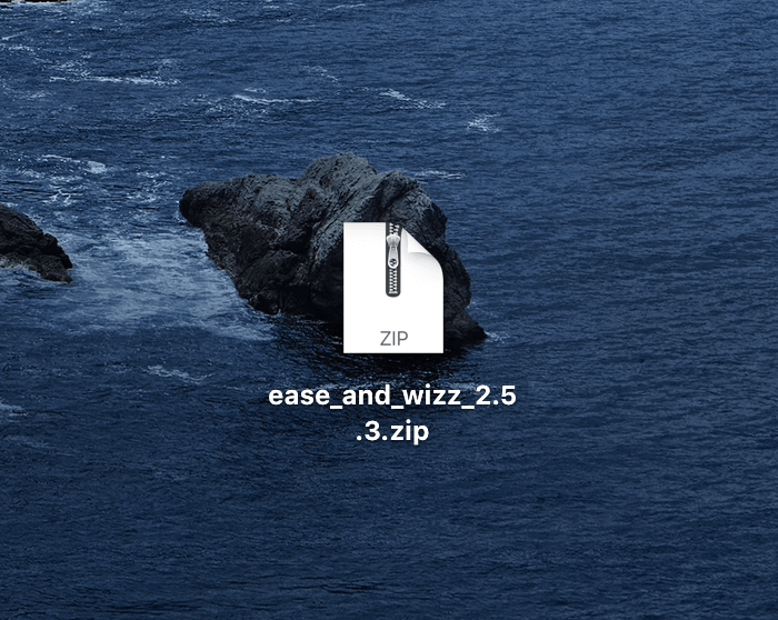 『Ease and Wizz』のzipファイルを開く