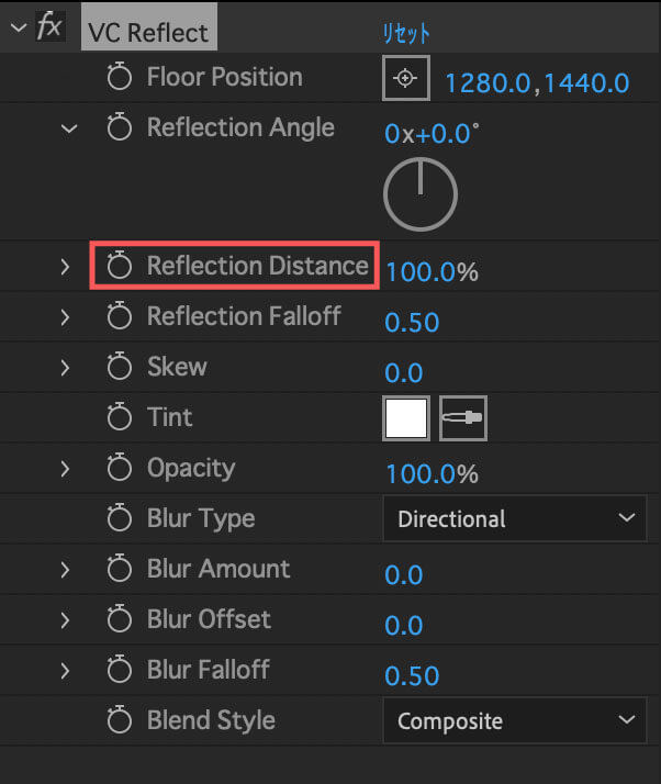 Reflection Distance