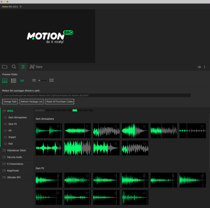 Adobe After Effects Motion Bro Download Preset Pack フリー 無料 プリセット 素材 インストール サウンドエフェクト Sound FX