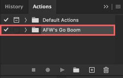 アクションに『AFW's Go Boom』がインストール