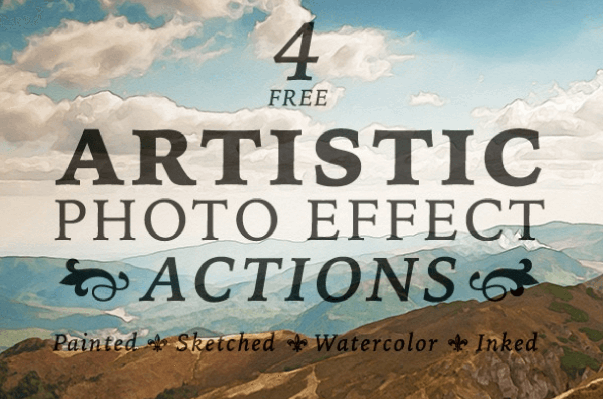 4 Free Artistic Paint,Sketch & Ink Photo Effects