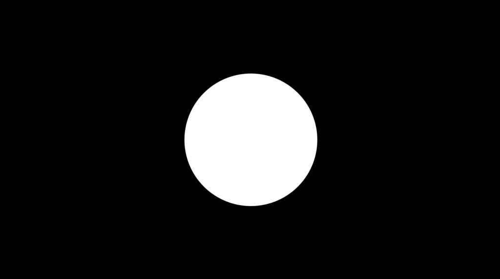 白い丸に黒い背景の素材