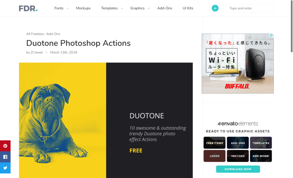 『Duotone』の無料配布サイト