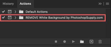 『REMOVE White Background』アクションインストール