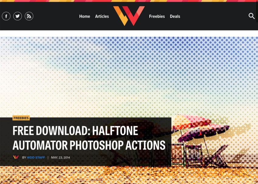 アクション素材『Halftone Automator』の無料配布サイト