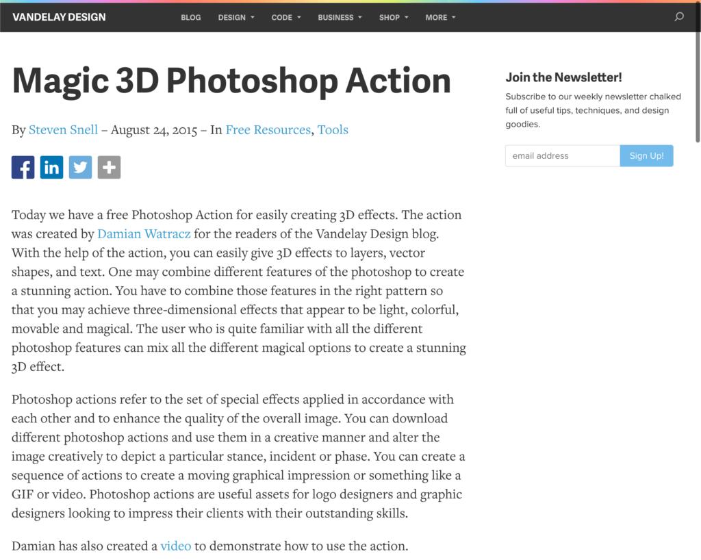 アクション素材『Magic 3D』の無料配布サイト
