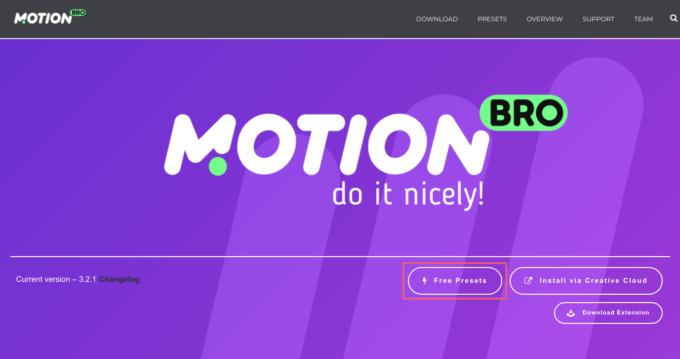 Motion Bro Plugin Free Preset Pack フリー プリセット パック インストール 方法 簡単