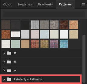 Patternsに『Painterly - Patterns』が追加
