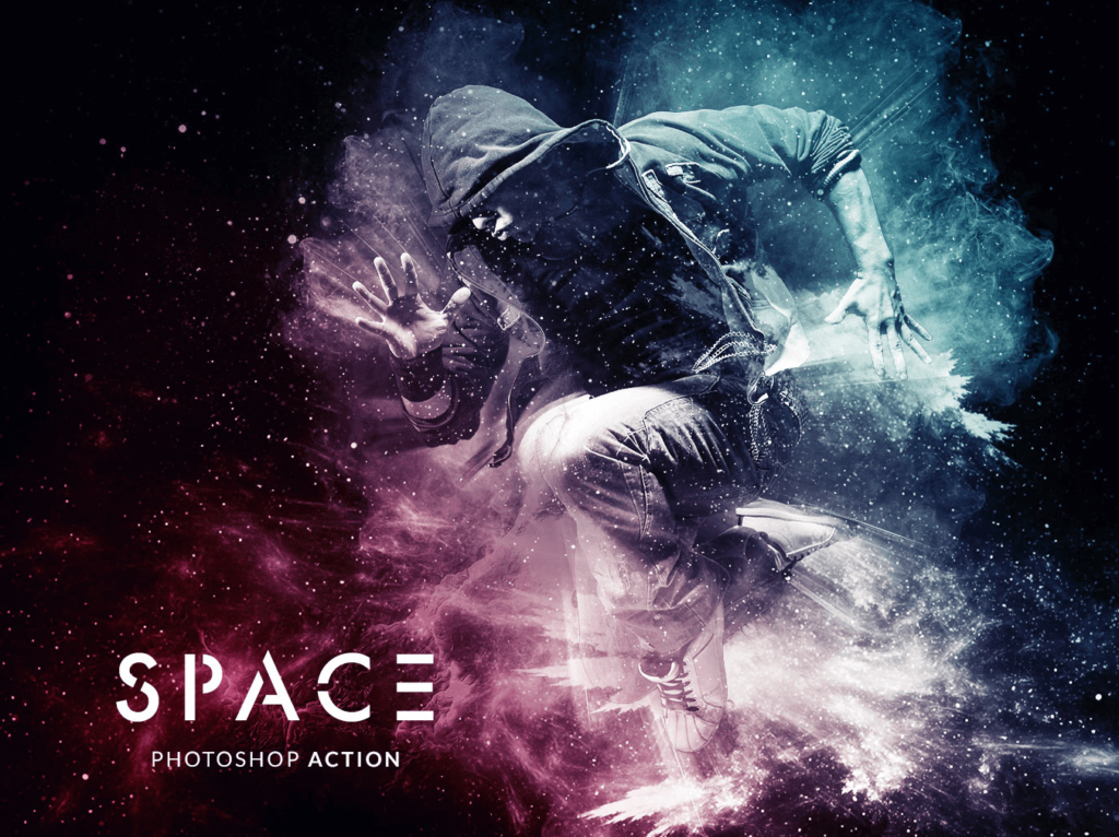 Photoshop action space