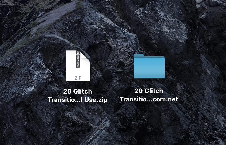 20 Glitch Transitions Pack ダウンロード