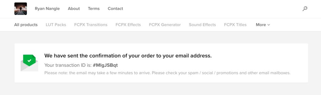 メールの確認を表示