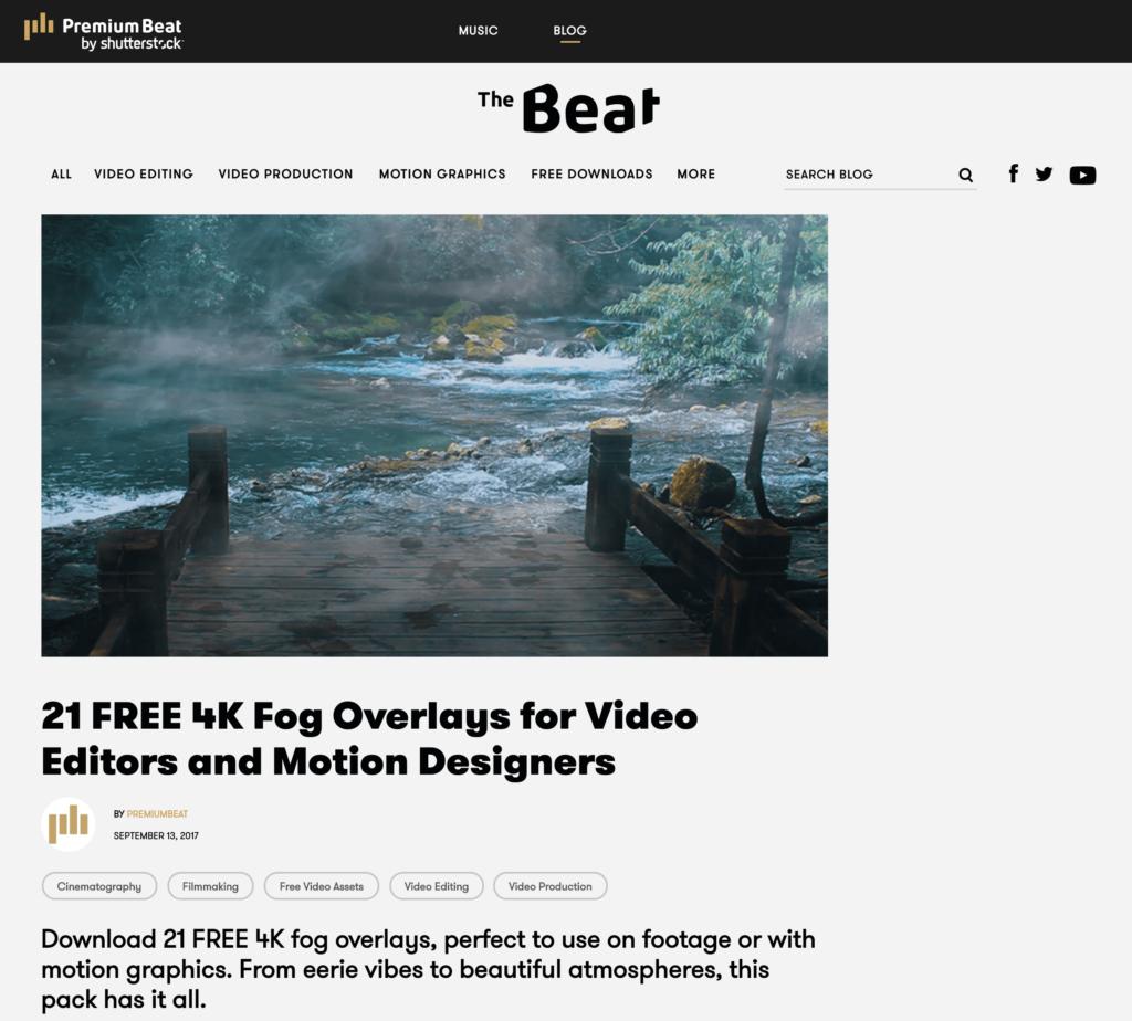 21 FREE 4K Fog Overlays ダウンロードサイト