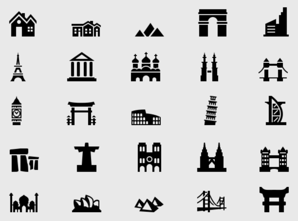 Building & Landmark Icons Free by Ferman Aziz