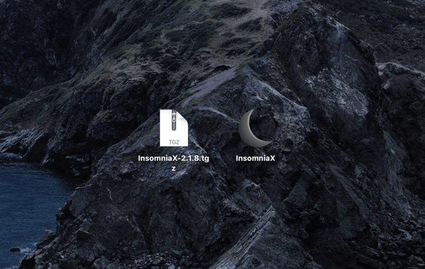 『InsomniaX』のアイコンを表示させダブルクリック