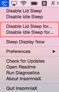 Disable Lid Sleep For...