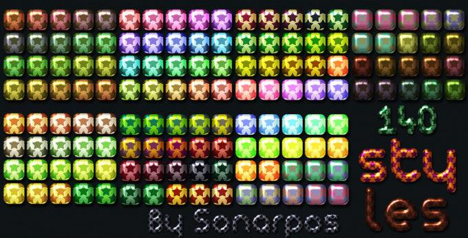 Photoshop Layer Style Free asl フォトショップ レイヤースタイル 無料 素材 おすすめ 140 stars styles