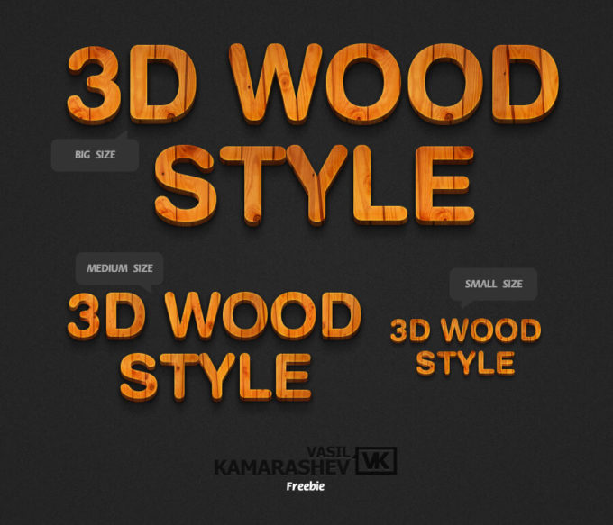3D Wood Style