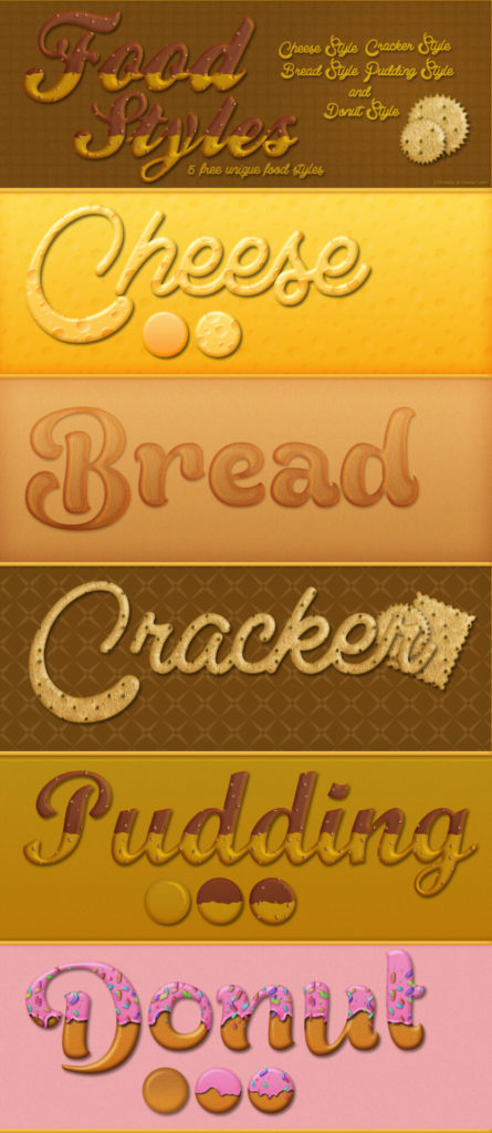 5 Free Food Styles