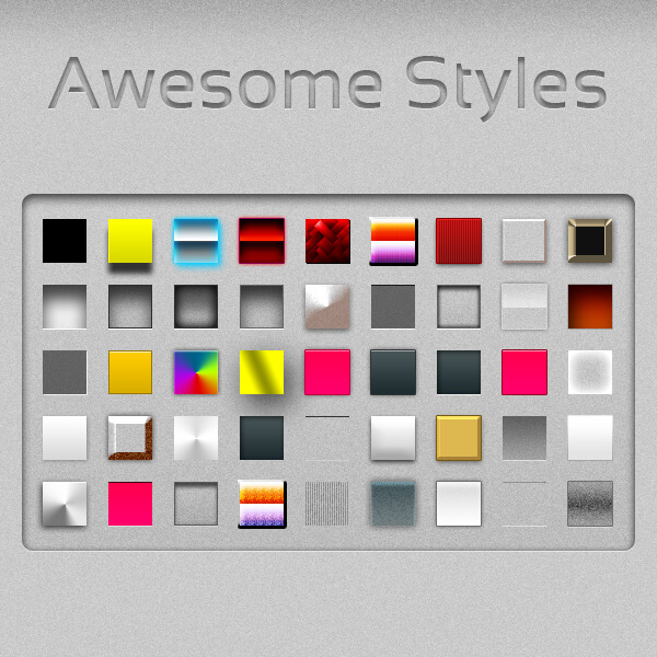 Photoshop Layer Style Free asl フォトショップ レイヤースタイル 無料 素材 おすすめ Awesome Text Styles (Full Set)