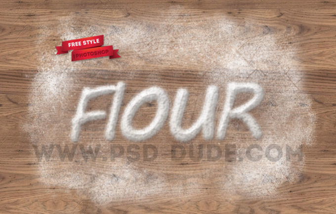 Baking Flour Photoshop Free Text Style