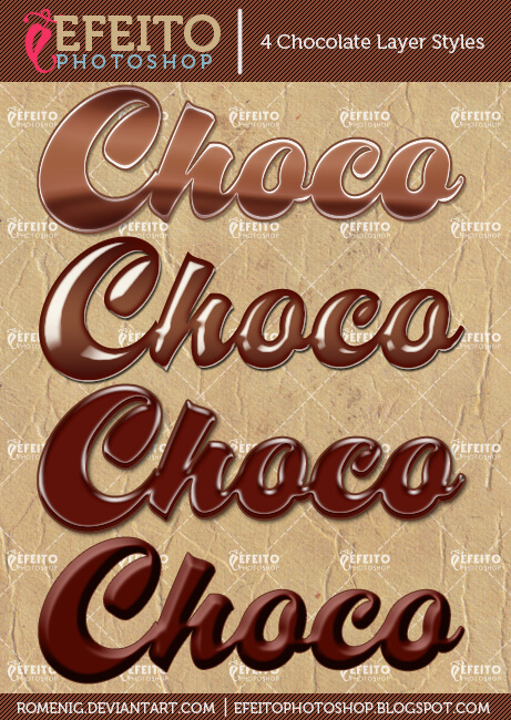 4 FREE CHOCOLATE LAYER STYLES