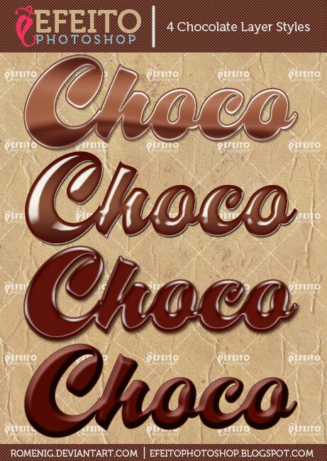 4 FREE CHOCOLATE LAYER STYLES