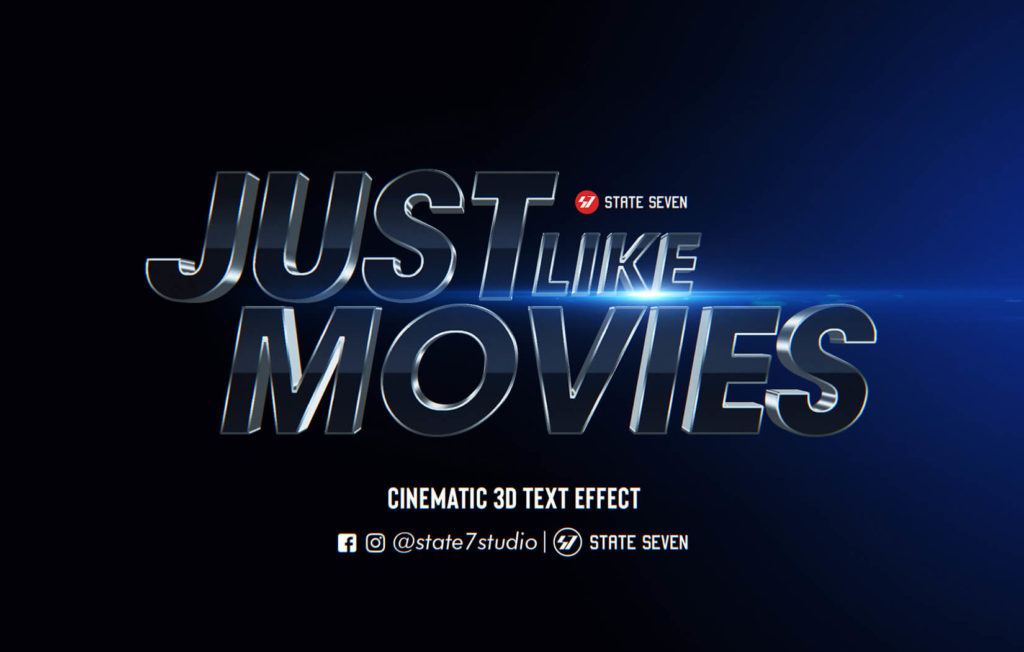 FREE CINEMATIC  3D TEXT EFFECT
