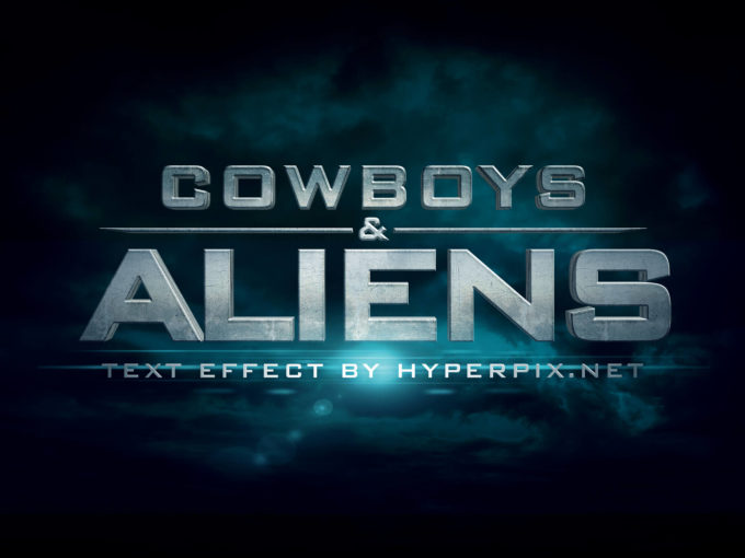 Cowboys & Aliens Text Effect